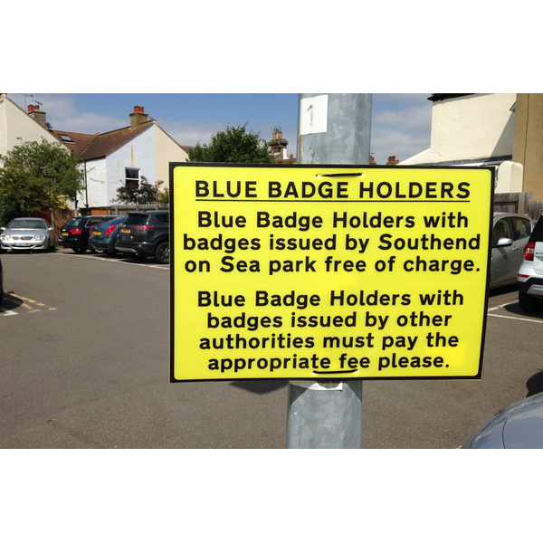 Blue Badge Holders not welcome by Southend Tories