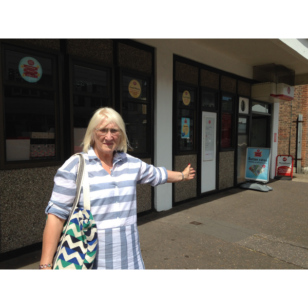 Carole Mulroney at Leigh Post Office