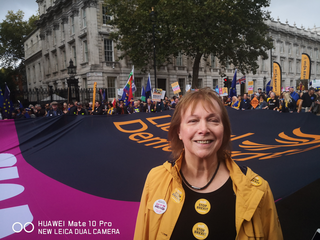 Nina outside Downing Street on 19oct2019 ()