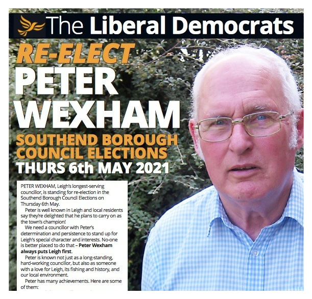 Re-elect Peter Wexham May 2021 ()
