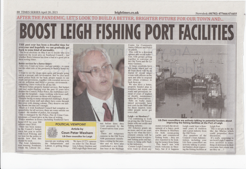 Peter Wexham Leigh Times article April 20, 2021 ()